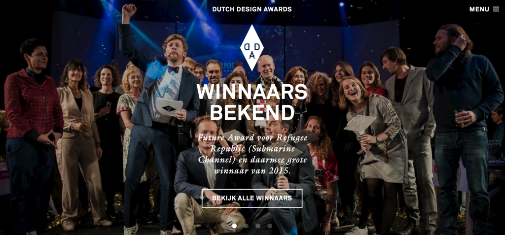 Winnaar van Dutch Design Award!